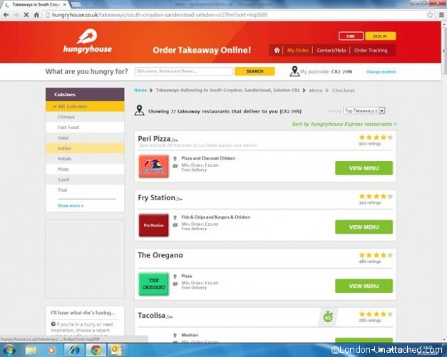 hungryhouse order form