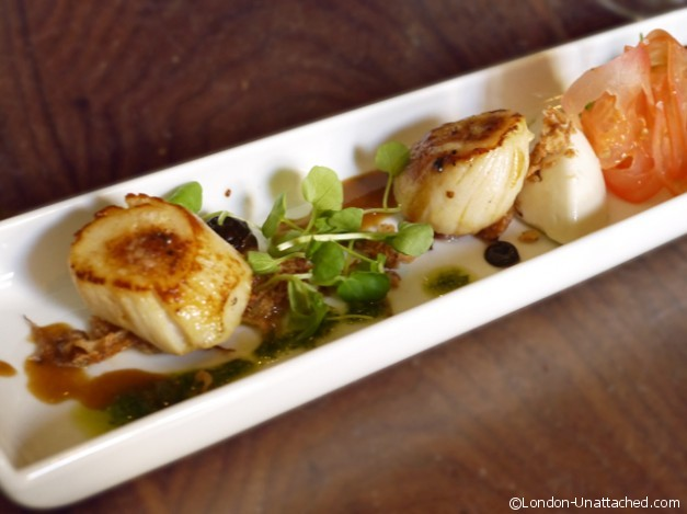Notting Hill Kitchen Scallops without Chorizo
