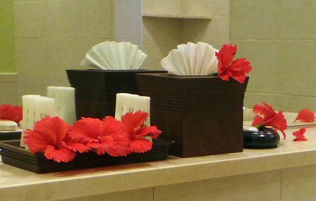St James's Club - Flower Strewn Bathroom