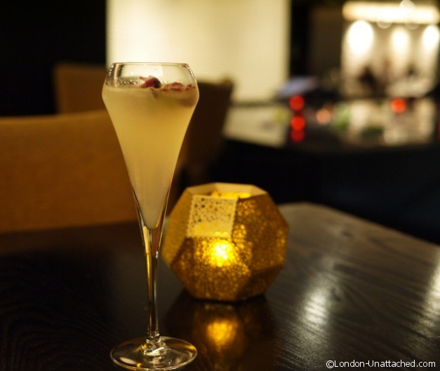champagne Cocktail - Benares Curry for change