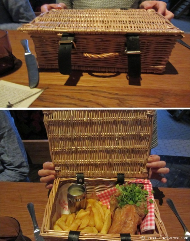 chicken in a basket