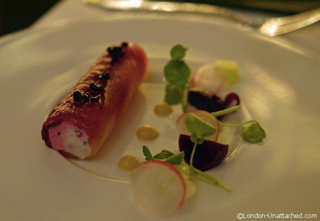 1901 at Andaz - Smoked Salmon with Goats Cheese