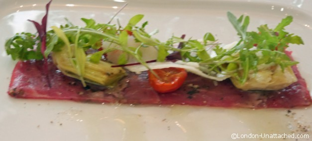 Beef Carpaccio - guoman Tower Hotel