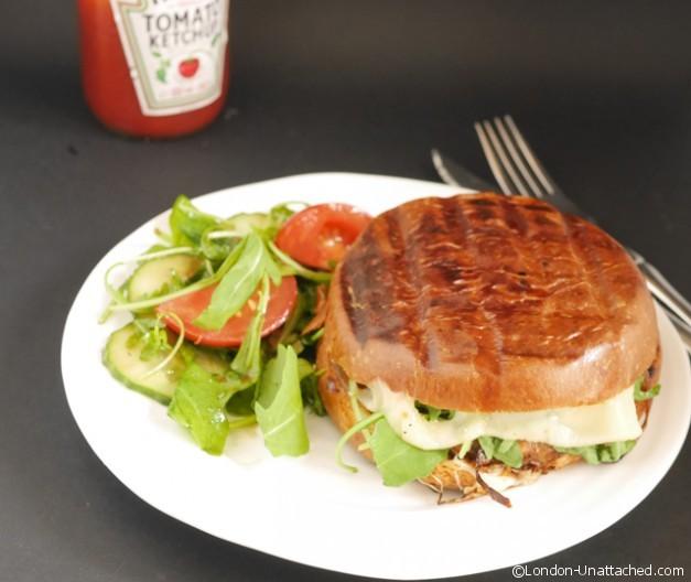 portabello mushroom burger ready to eat