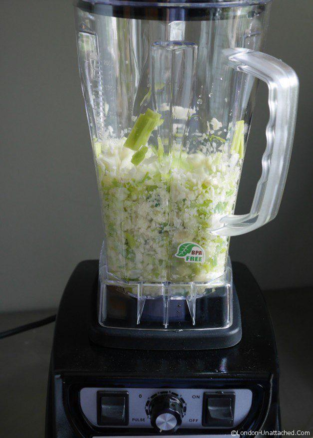 Celeriac, cucumber and leek soup