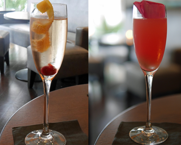 Champagne Cocktails at Nozomi