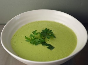 Celeriac and Cucumber Raw Soup