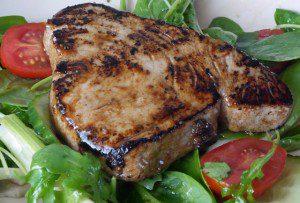 Tuna with a Mirin Soy and Yuzu Glaze for 5-2 Diet
