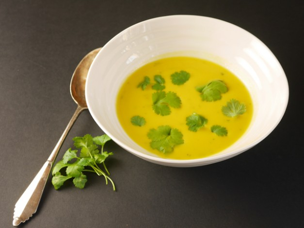 Butternut Squash and Sweet potato soup with Coriander