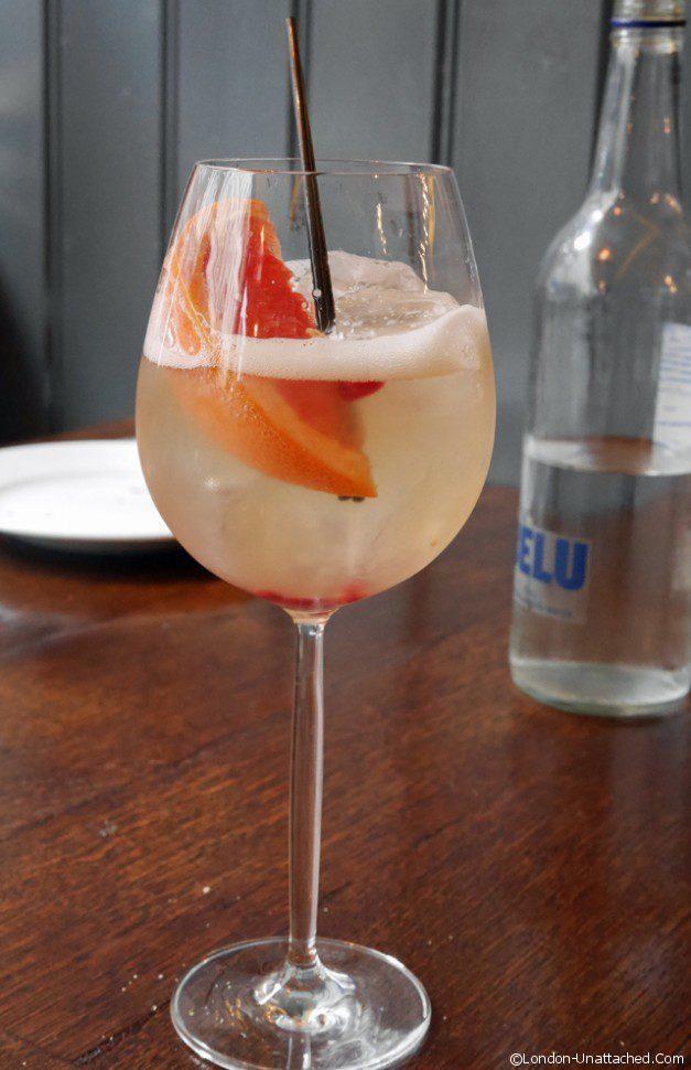 ember yard - grapefruit tonic cocktail