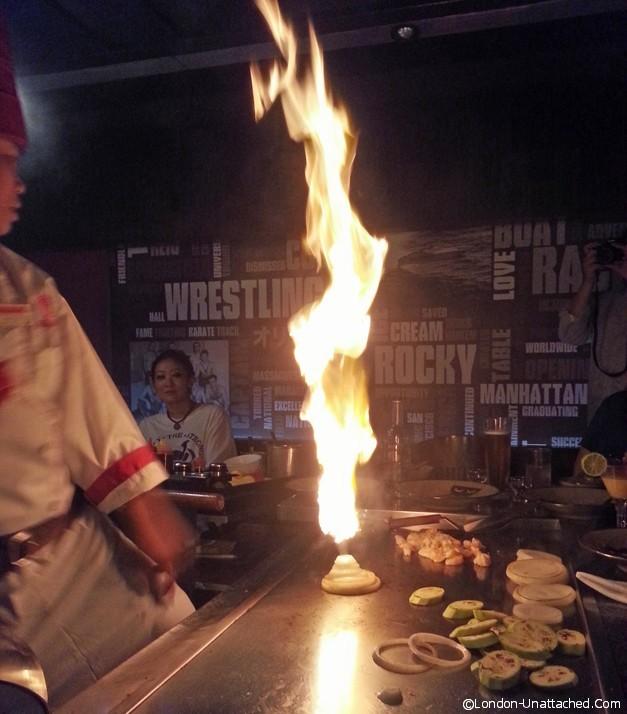 benihana fire