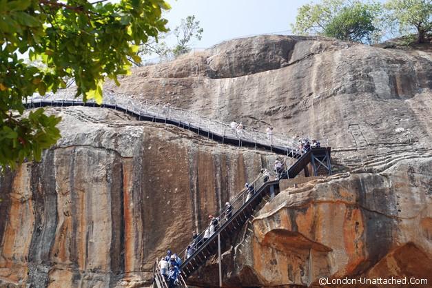 Coming down Sigiriiya