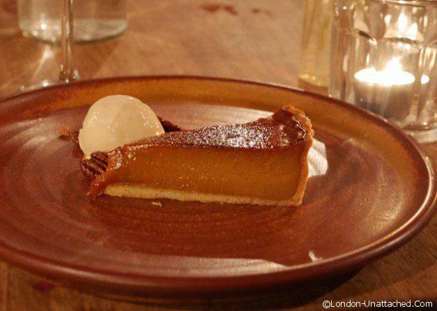 Peat spade dessert