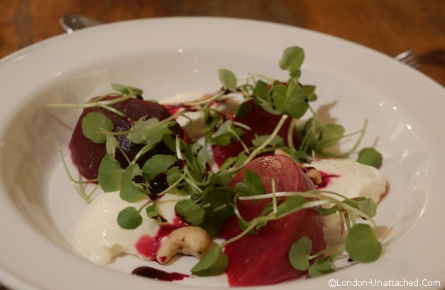 The Old Manor Whipped Goats Cheese and Beetroot