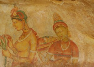 Wall paintings Sigiriya