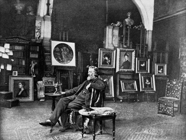 Leighton in his studio copy