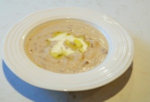 Truffled Cream of Mushroom and Cauliflower soup