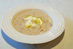 Truffled Cream of Mushroom and Cauliflower soup