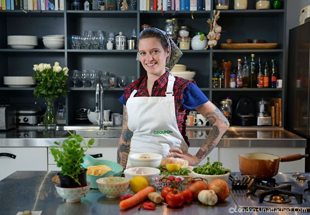 Jack Monroe for Groupon's Five for Five campaign, offering 5 recipes for a £5 donation to Oxfam-01