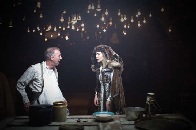 Press picture - Paul Clerkin and Megan Salter in Grimm Tales, The Bargehouse_credit Tom Medwell
