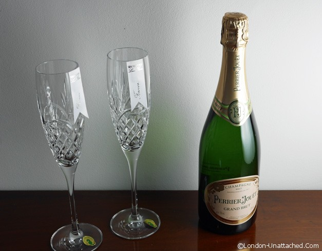 Champagne flutes and Champagne