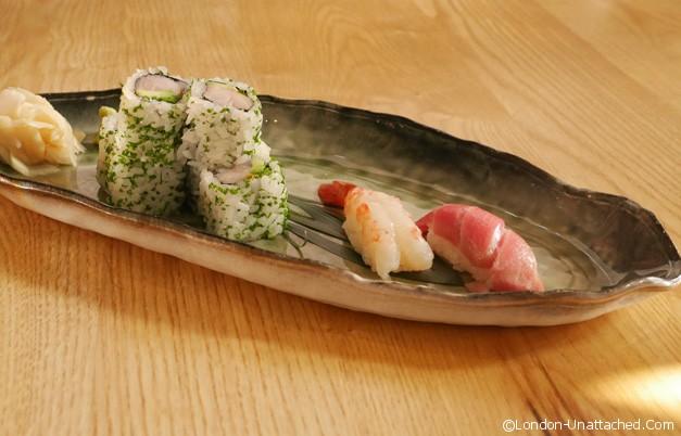 Kouzu -nigiri and sashimi
