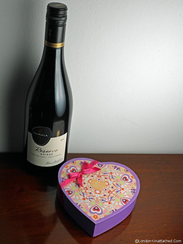 Kumala wine and Godiva chocolates - Valentines
