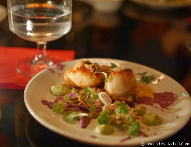 Old Tom and English scallops