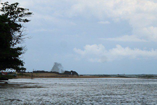 Sri Lanka River Boat Safari - out to sea