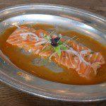 Worlds end market Salmon Carpaccio