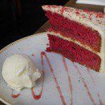 Worlds end market velvet cake
