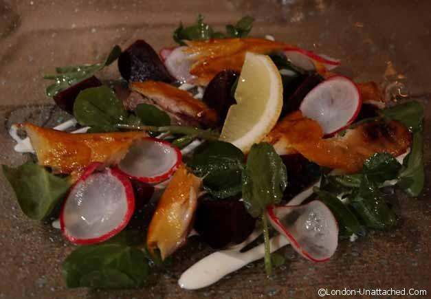 Beetroot and smoked haddock