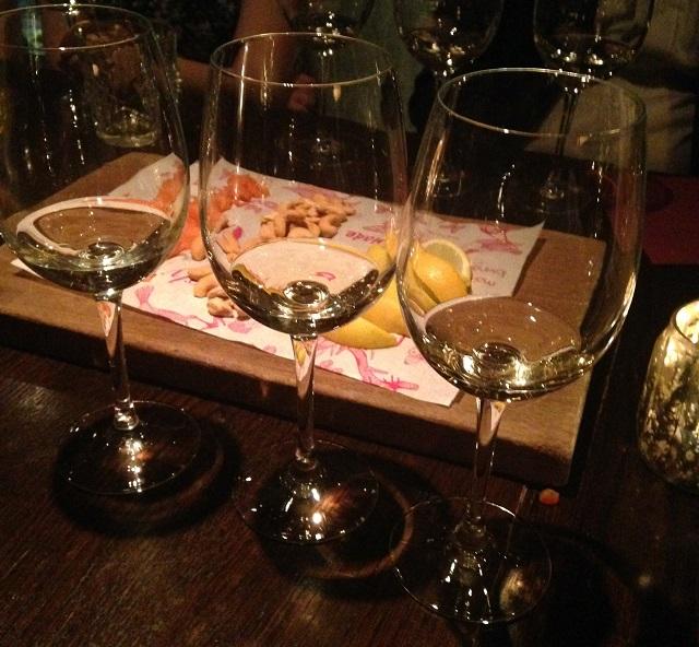Sampling the wines