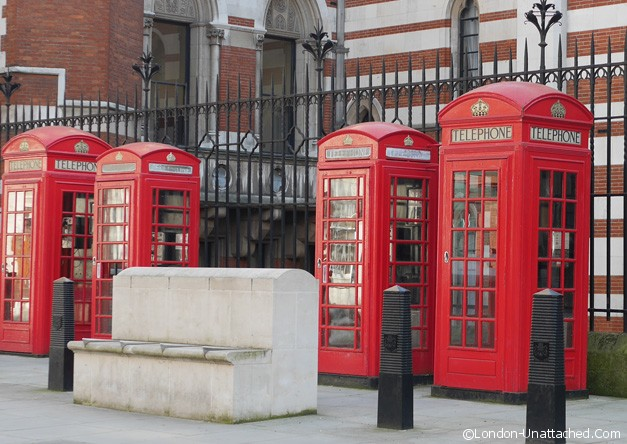 Telephone boxes based on John Soane's Tomb
