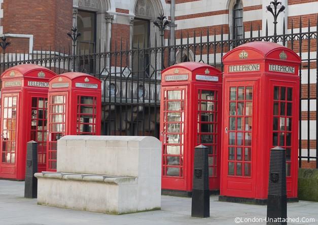 Telephone boxes based on John Soane's Tomb