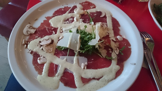 Carpaccio of beef