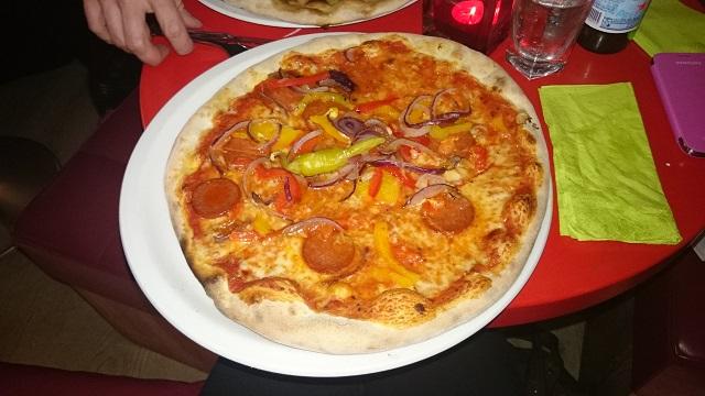Pizza at Vapiano southbank