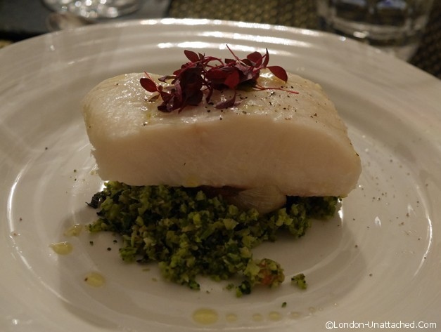 Halibut with Broccoli Tabboulah