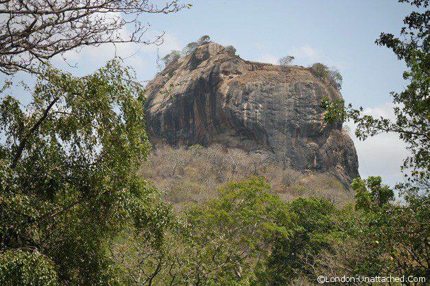 Sigiriya from a distance
