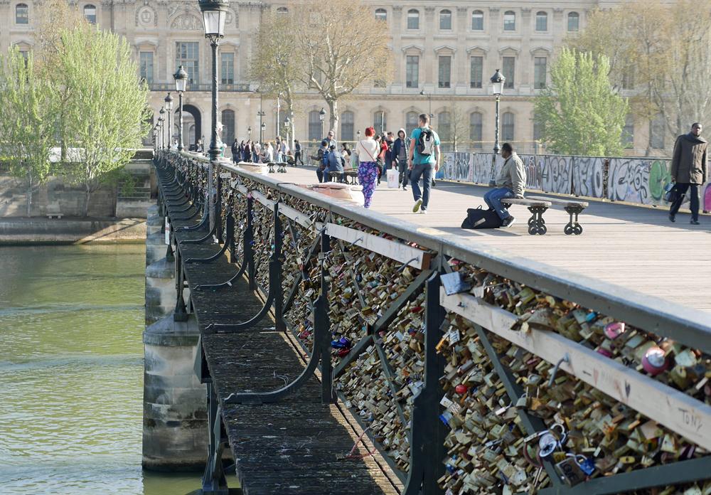 locks, bridge, paris, seine