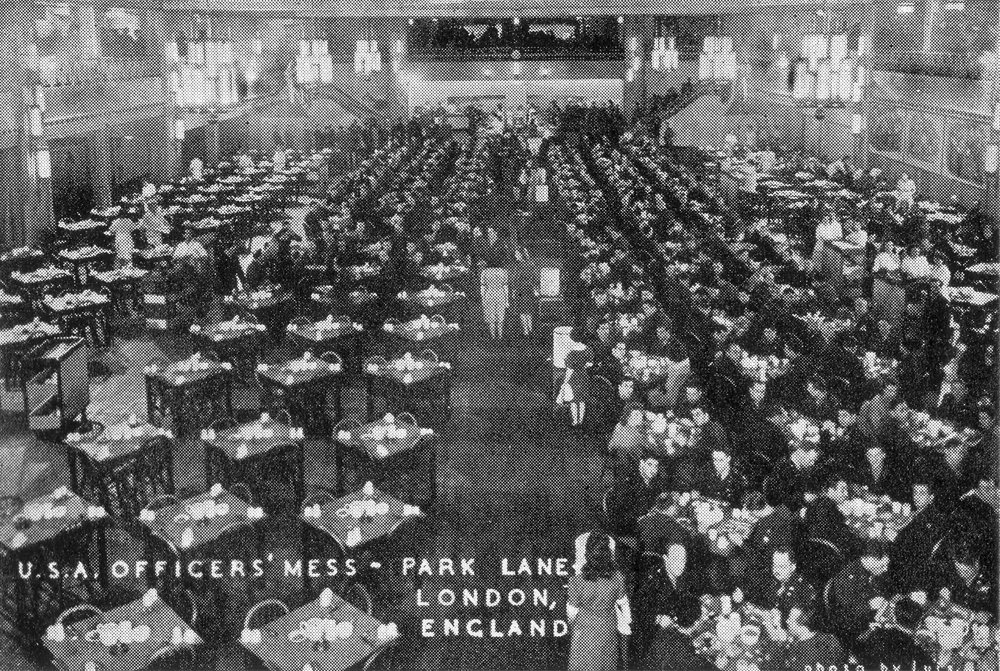 Grosvenor House Hotel London Park Lane as the USA Officers Mess World War II