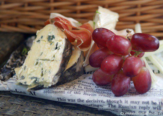 Cheese Grapes and Parma Ham