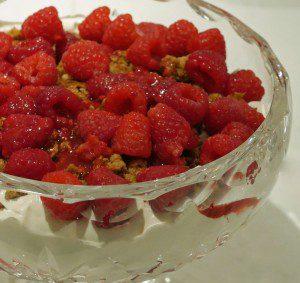 Simple Raspberry Cranachan