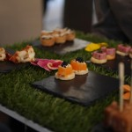 Floral Canapes at the Athenaeum Hotel