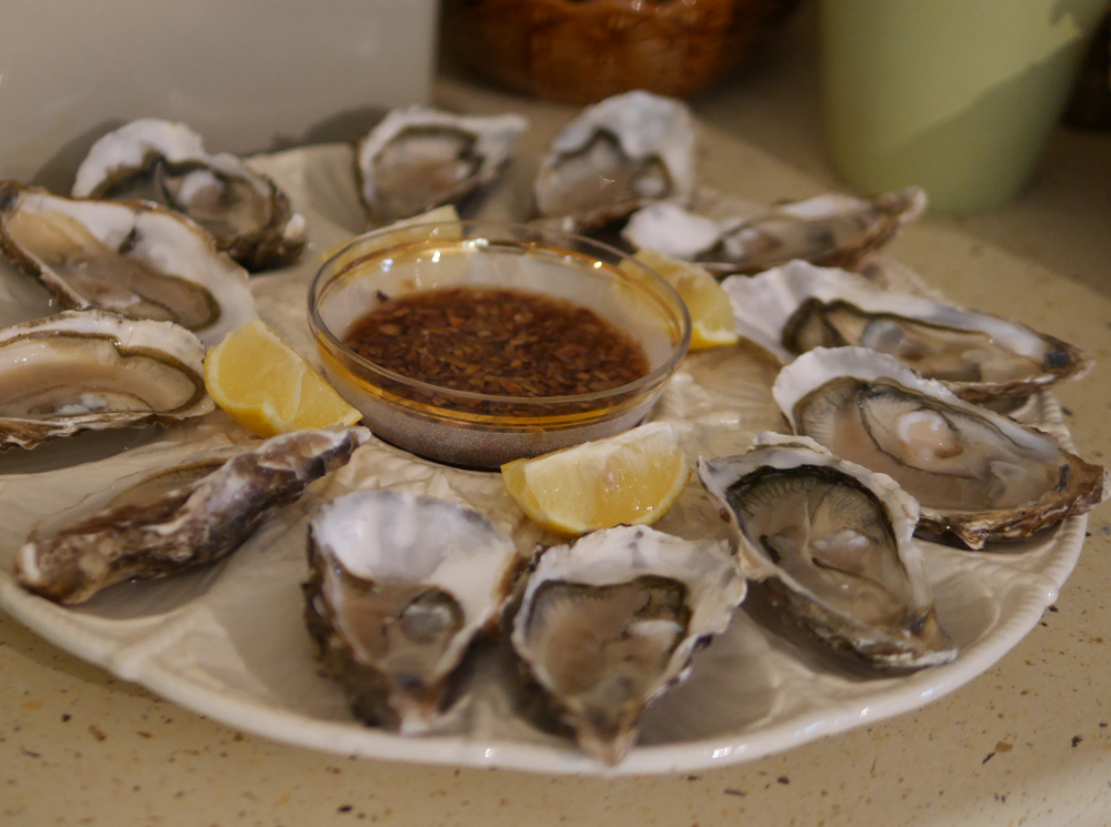 Lavender & Lovage Cookery oysters