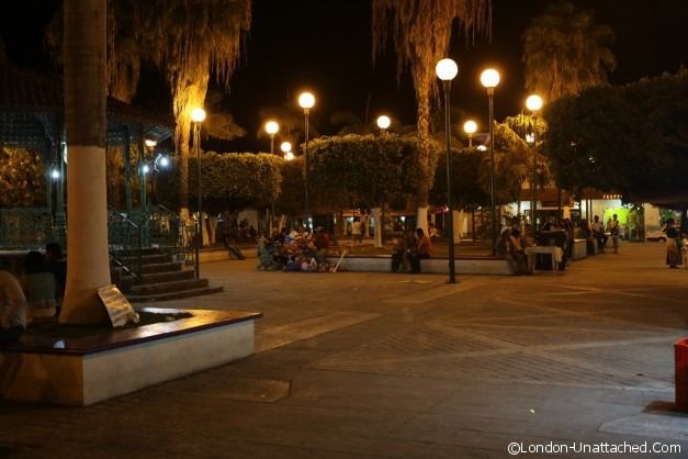 Mexico San Blas at night