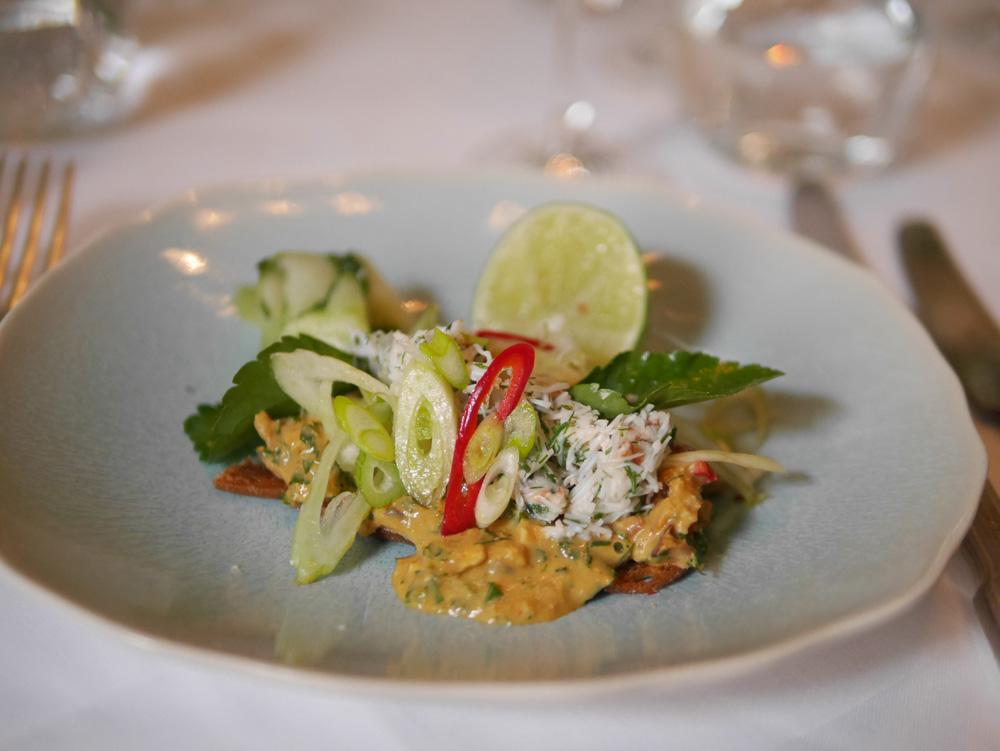 l'escargot restaurant crab salad