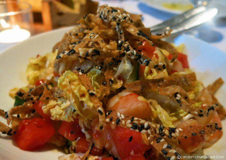 Asia de Cuba - Fire and ice shrimp