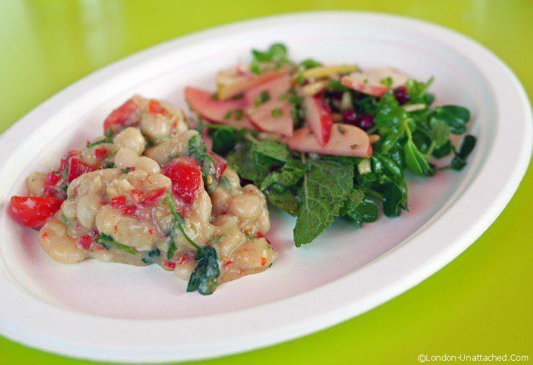 Ceru - bean salad, apple salad