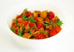 Courgette Ratatouille with Summer Savoury